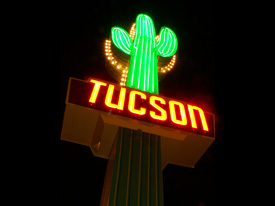 Night view of the Tucson side
