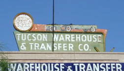 Tucson Warehouse sign after