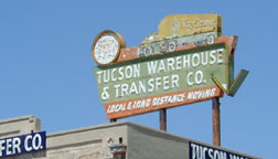 Tucson Warehouse sign before